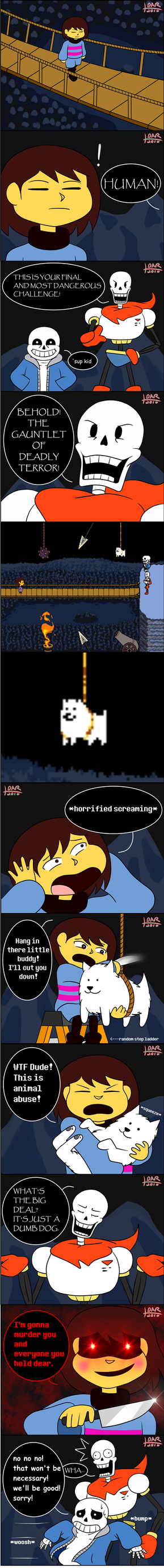 (UNDERTALE Comic) Animal Abuse by PinkCapPanda
