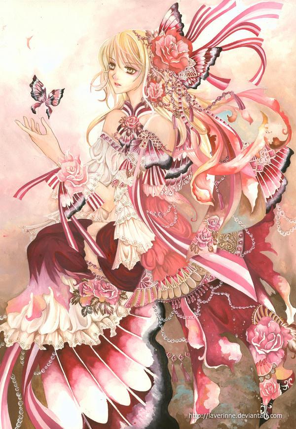 Spring Heart Anime Beautiful Girl