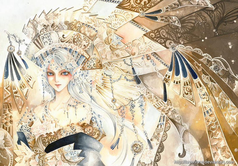 golden saphire anime illustration