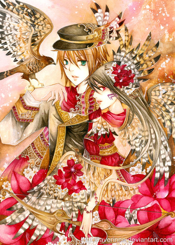 Jun and Mana by laverinne