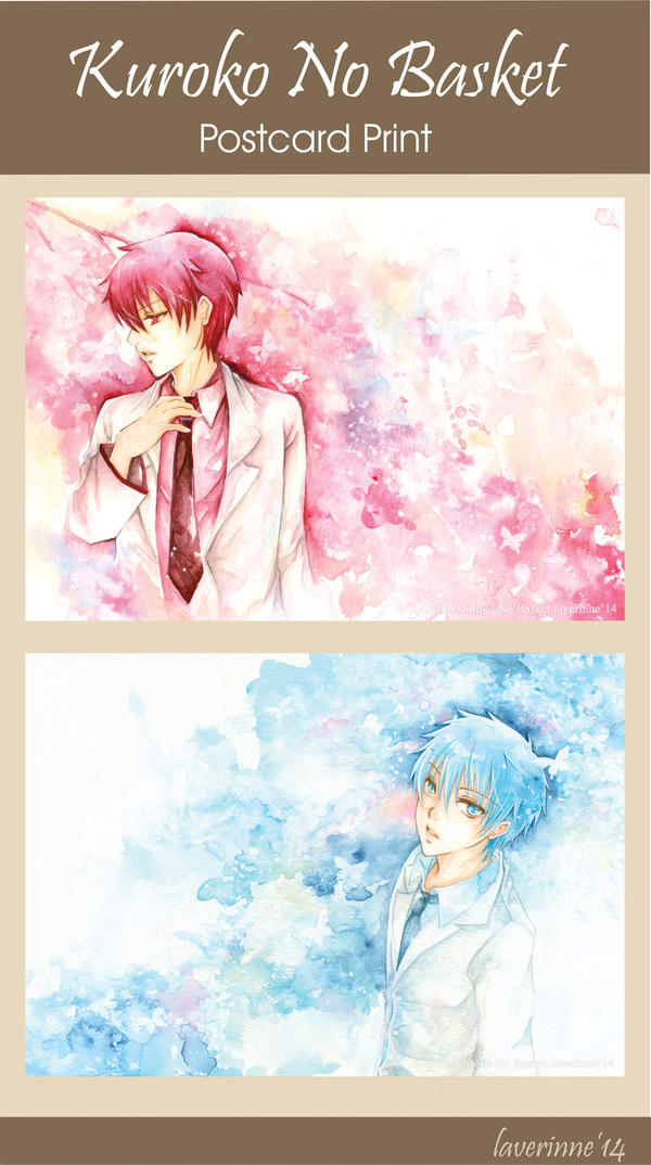 Kuroko No Basket Postcard Set by laverinne