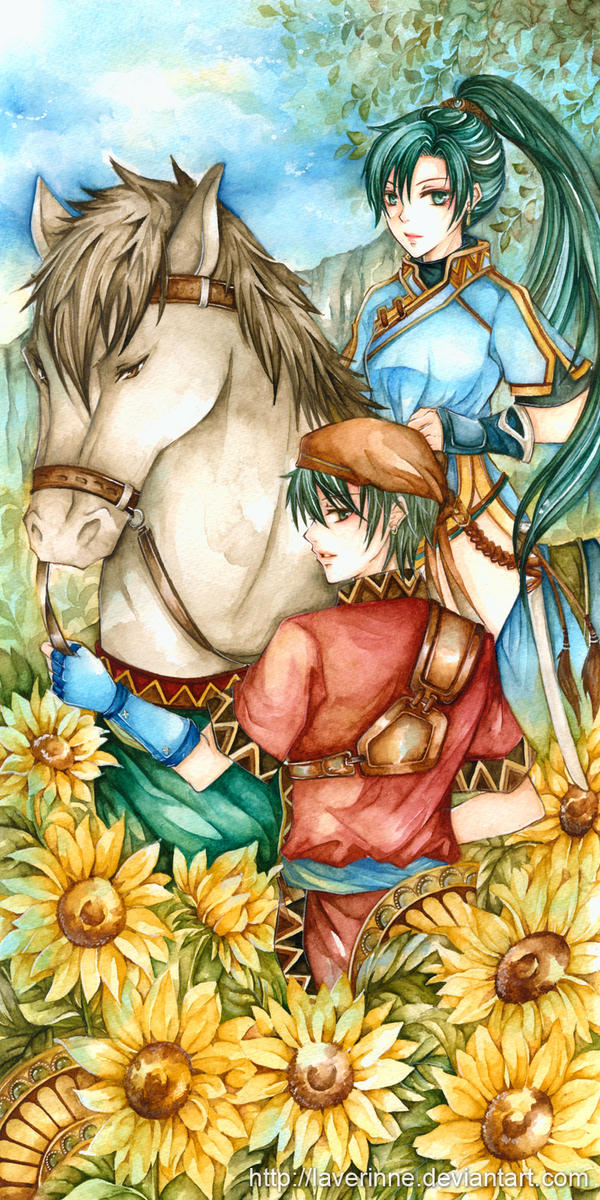 Lyndis and Rath by laverinne