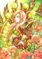 Orange rose by laverinne