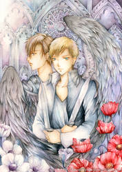 Michael and Gabriel by laverinne