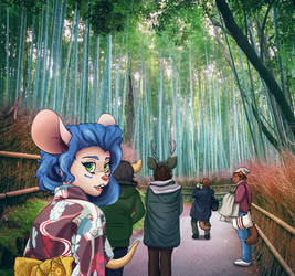 Miranda in the Bamboo Forest