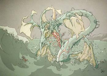 Water Dragon by jpeckarts