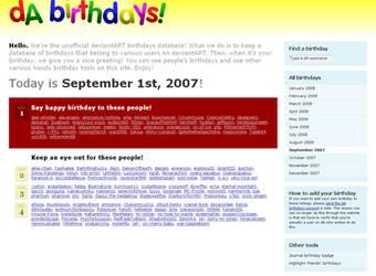 deviantART Birthdays v.6