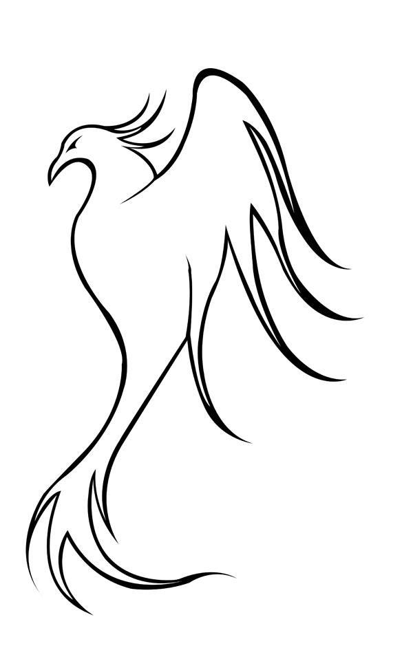 Line Art Simple : Phoenix line art by kestrel on deviantart
