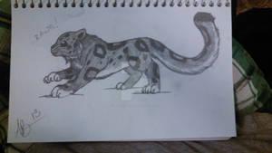 chibi snow leopard