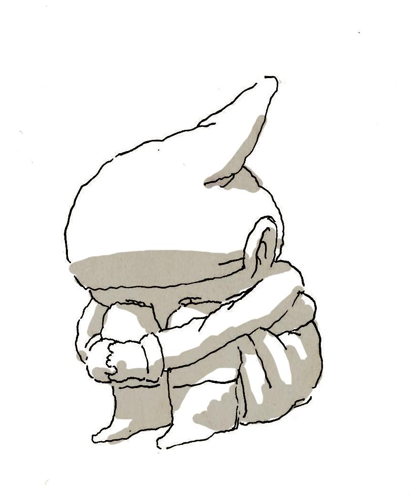 Gnome sad by NeverRider