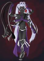 Cursed Dark Elf Priestess by Catilus