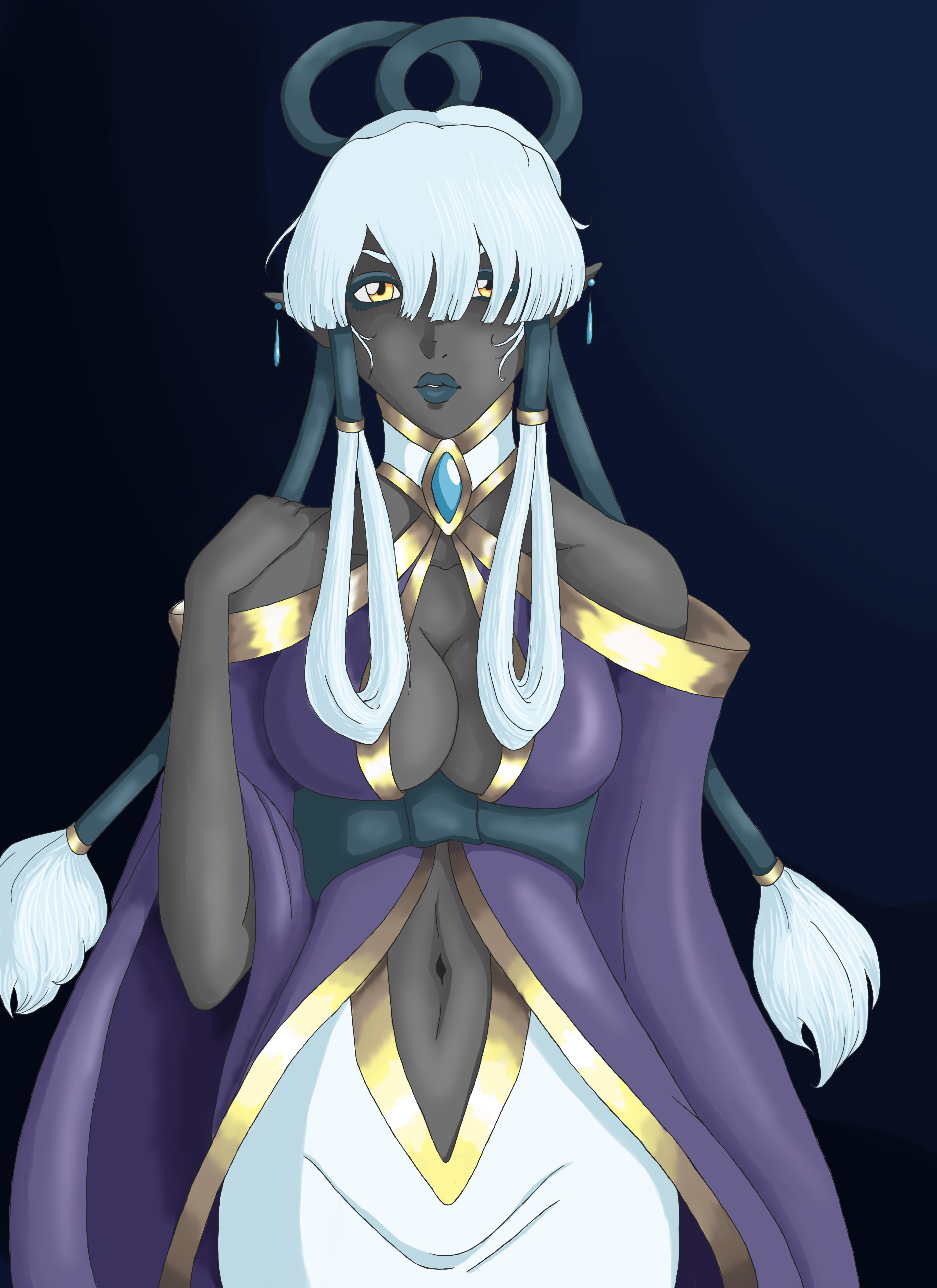 Drow Healer by Catilus