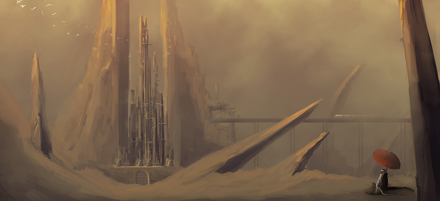 Speedpaint: Desert City by Ullbors