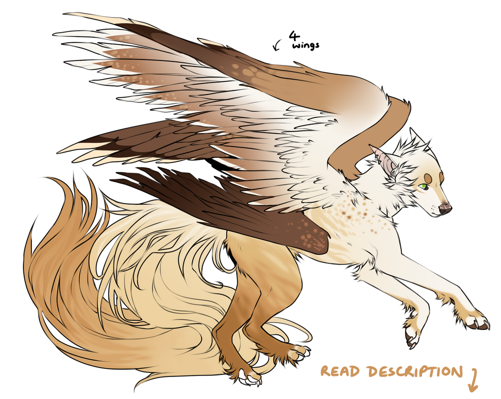 [adopt] four-winged auction! [OPEN] by harpxer