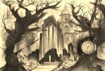 grim landscape (cemetery)