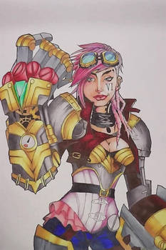 VI ( with copic markers )