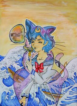 sailor mercury faux marble