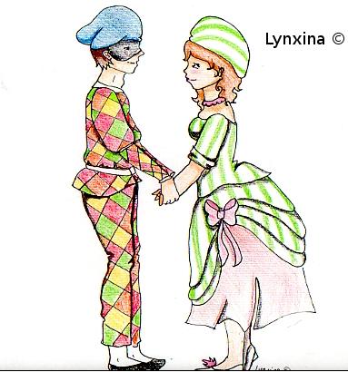 Arlequin et Colombine by Lynxina