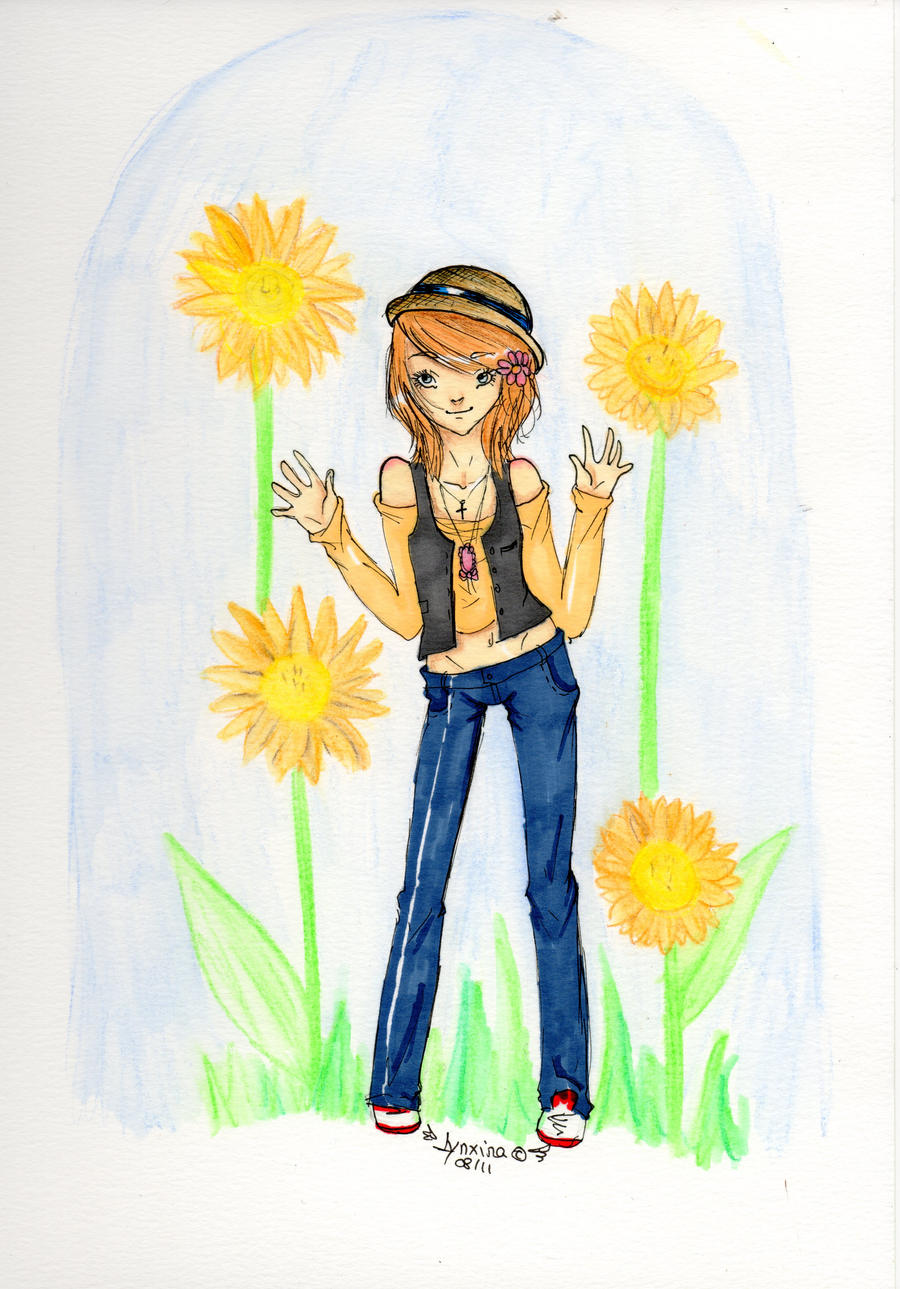 Sunflowers in your hair by Lynxina