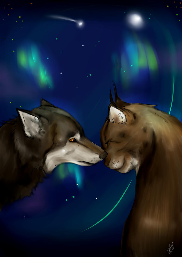 God les aurores boreales by Lynxina