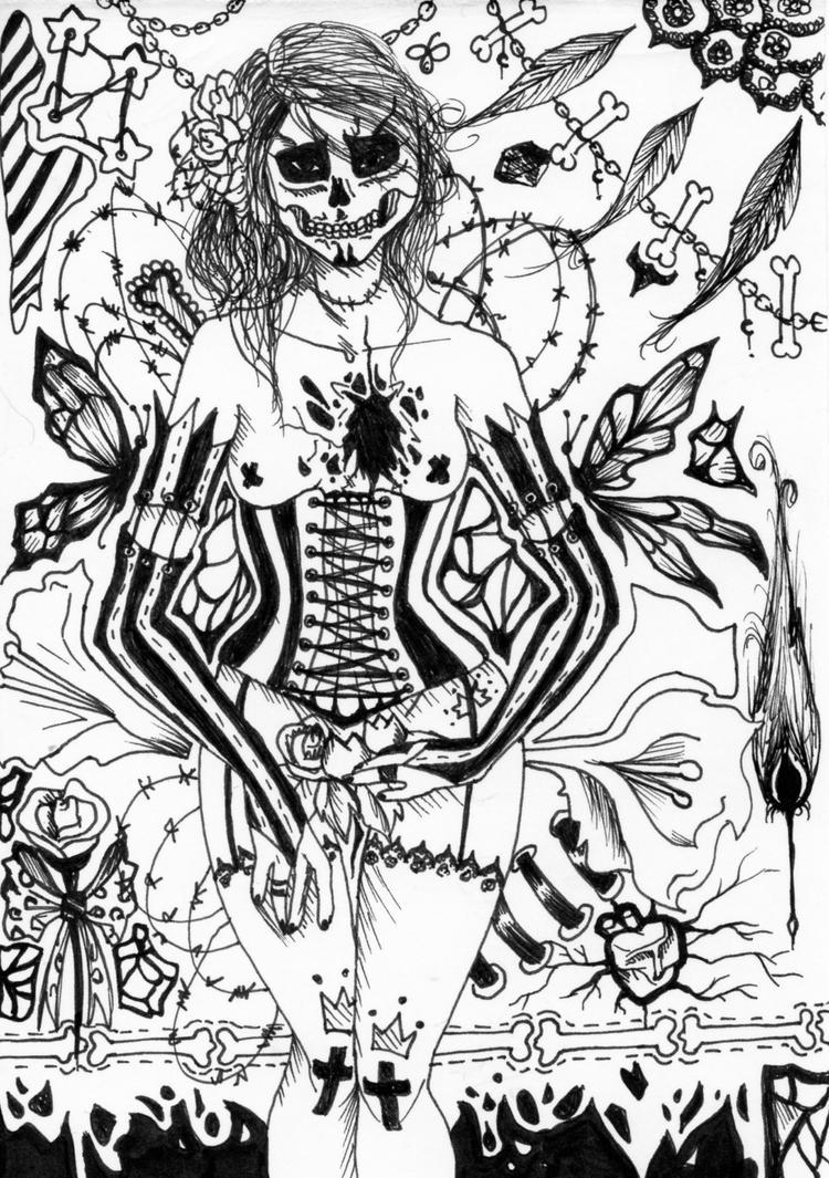 encore du squelette by Lynxina