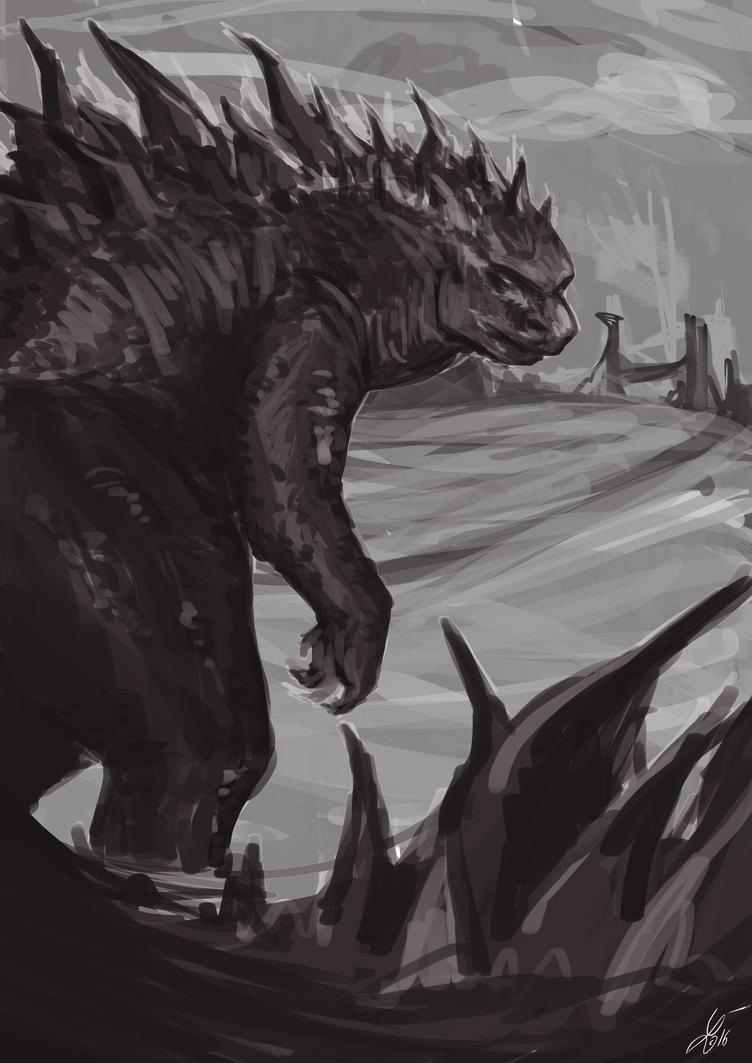 Godzilla by Lynxina