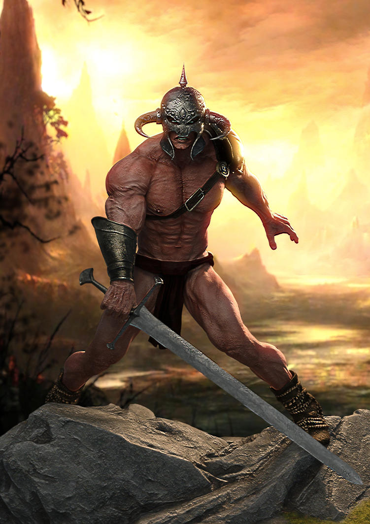 Dryrul The Barbarian by supersolidusnake