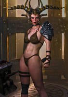 Syiel The Warrior Elf by supersolidusnake