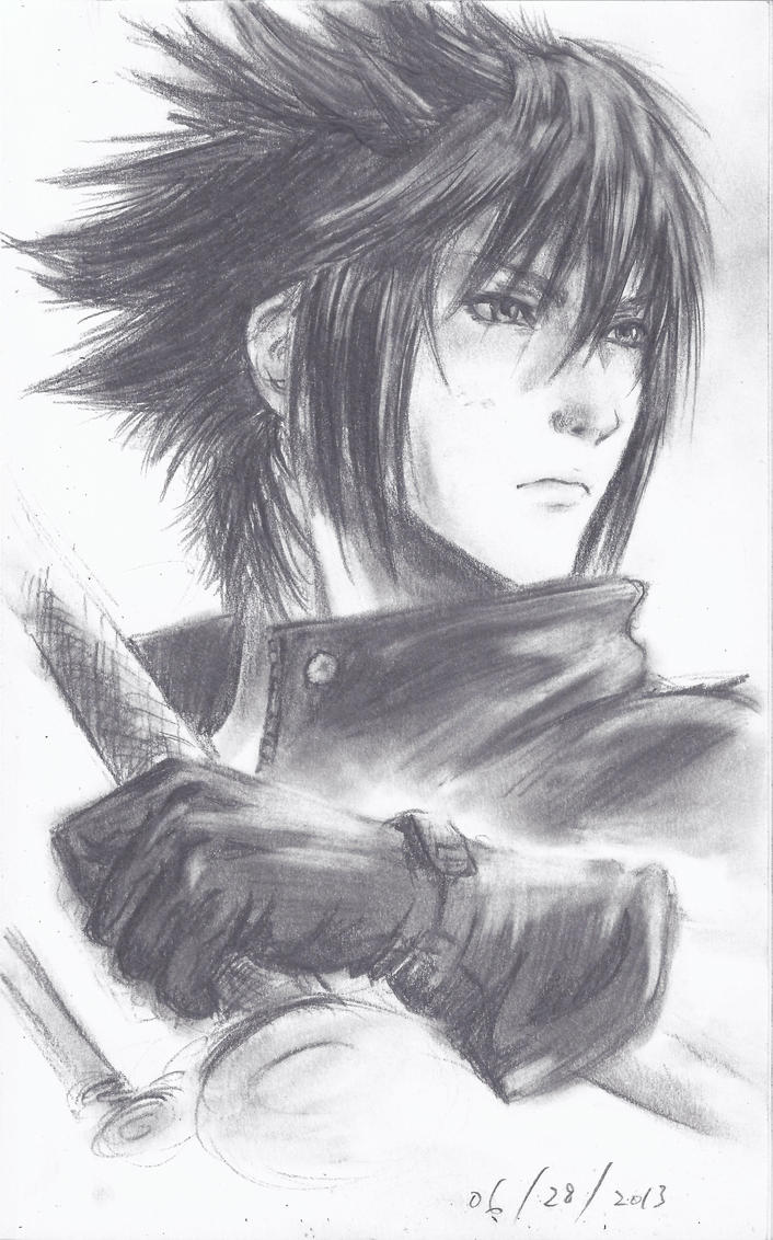 Drawing the Noctis Final Fantasy XV Drawing Challenge