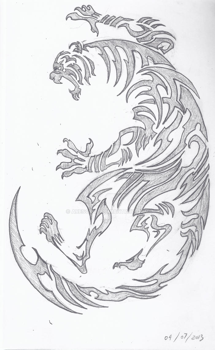 Tribal Tiger Tattoo Design By Aresgear On Deviantart