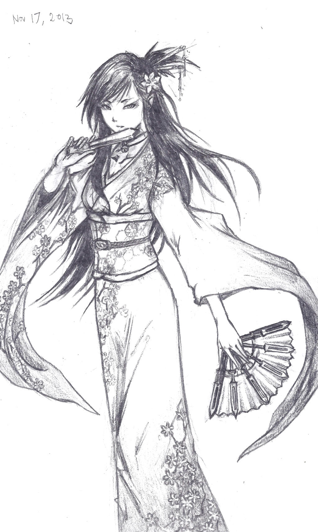 geisha girl by aresgear on deviantart