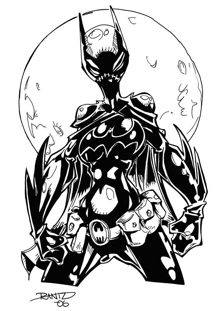 Batgirl Inks by BluetheInker