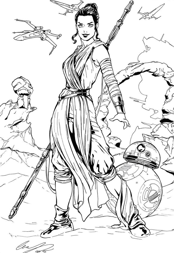 Rey Inking Practice by BluetheInker