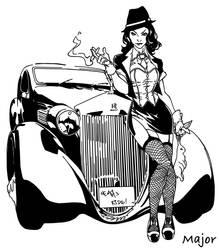 Zatanna Gangster Age- Pencils By CarlosGomezArtist