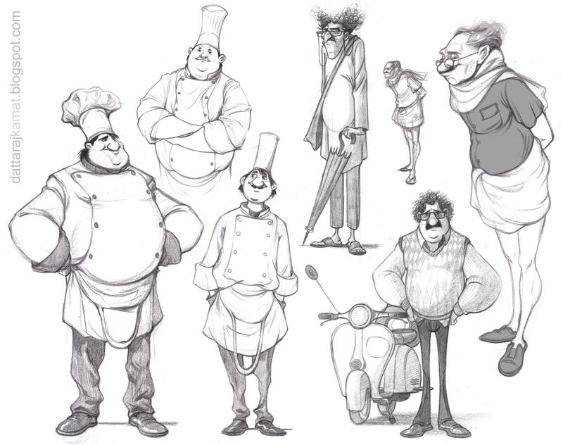 ...character sketches