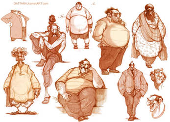 Some more character explorations... by Dattaraj