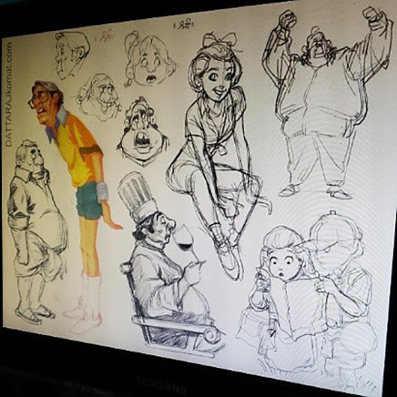 Doodles 11a  dattarajkamat(dot)com instagram by Dattaraj