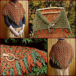 Shawl Wrap Autumn Leaves