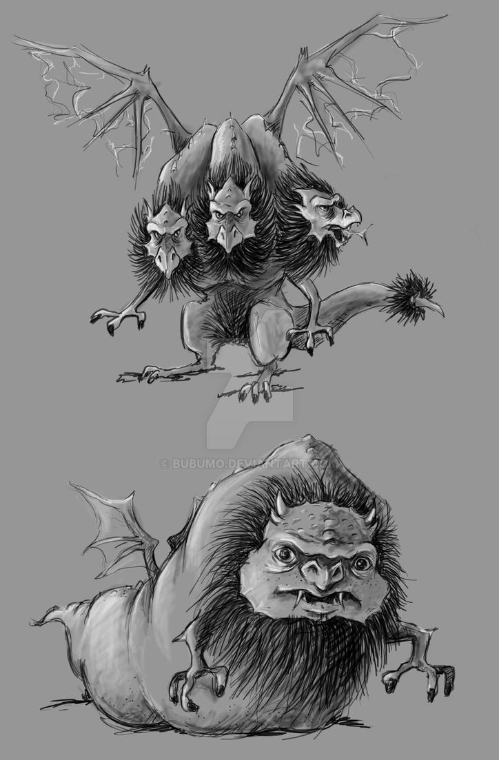 dragon sketches by bubumo