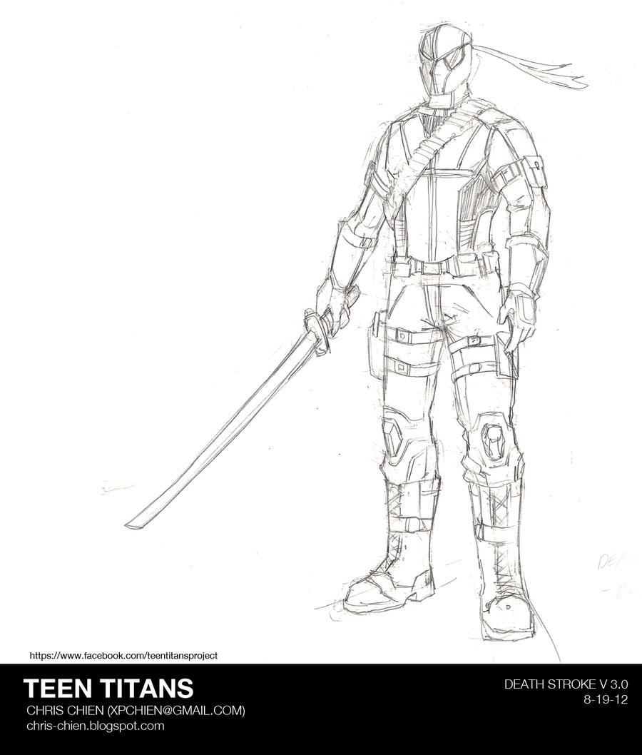 coloring pages of deathstroke costume - photo#1