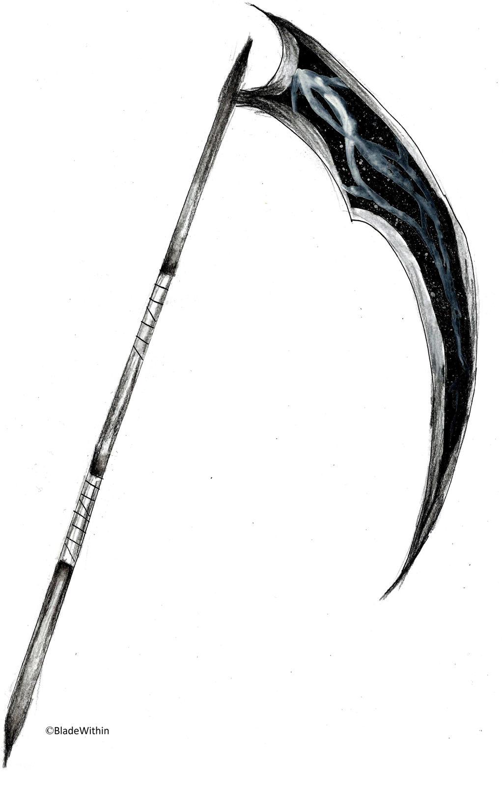 Weapon monochrome scythe by bladewithin on deviantart