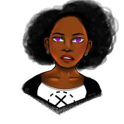 Purple eyes by BladeWithin