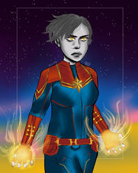 Captain Marvel by BladeWithin