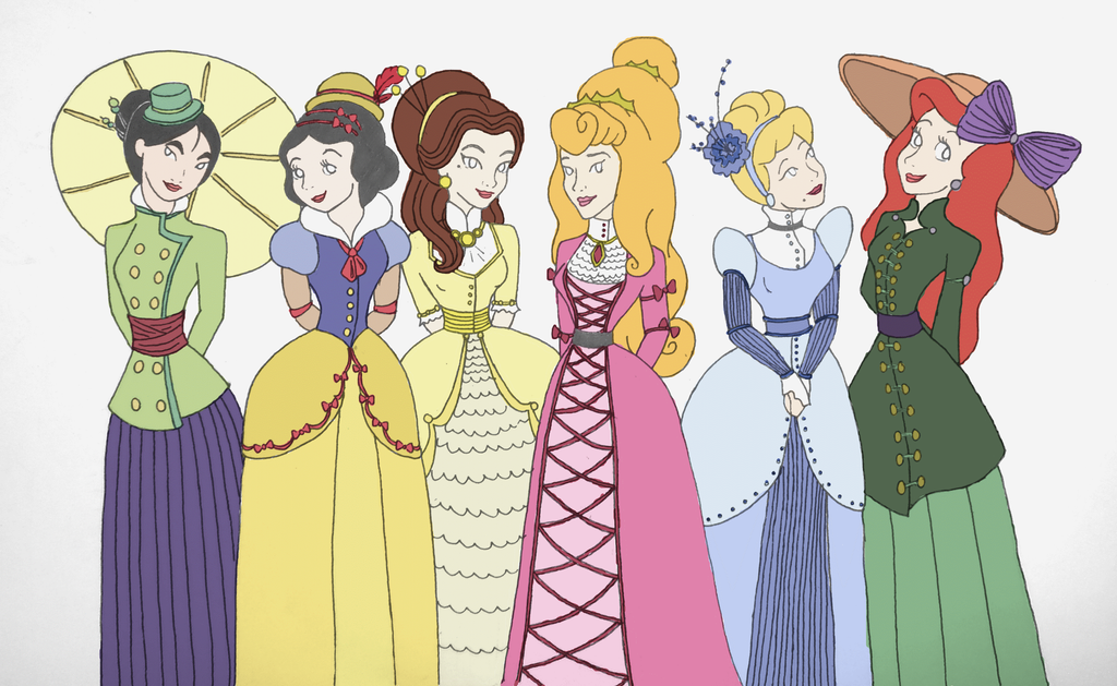 how to draw disney princess in modern day at startbuks