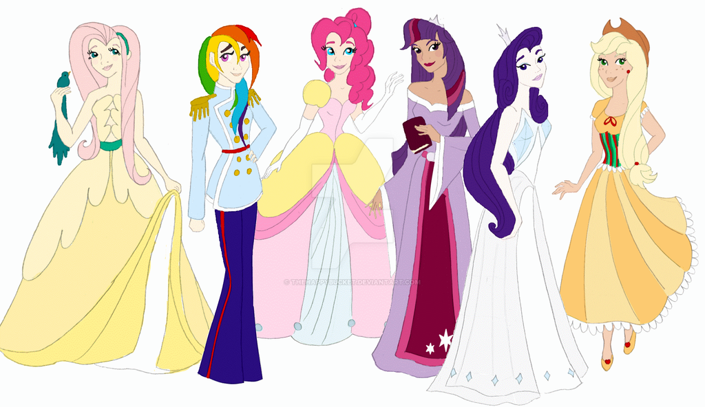 My Little Pony Disney Princess Style By Thehappybucket On Deviantart