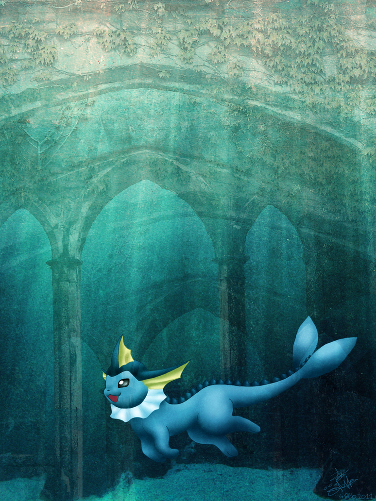 Vaporeon by Darkashter