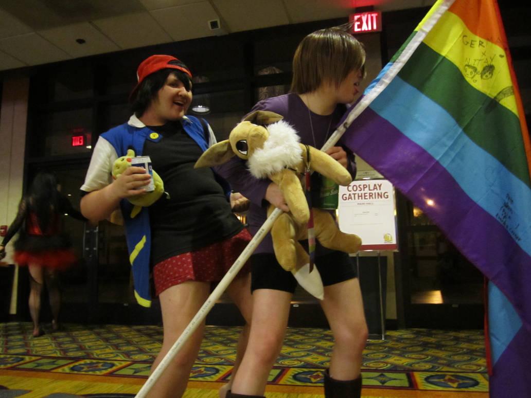 Ash and Gary: Flag Pole-dance by PockyPlus on DeviantArt