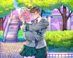[bnha oc] kiss scene at UA place
