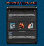 in flames-potofolio interface by Bad-Blood