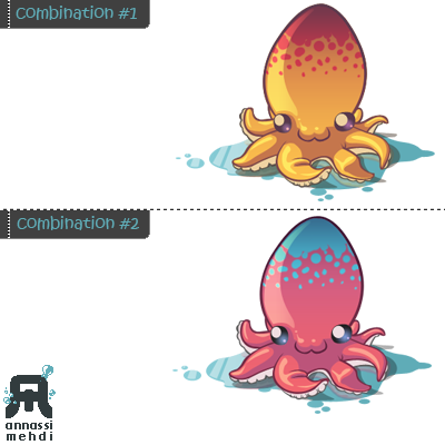 octopus  colour combinations by BadBlood on DeviantArt